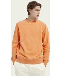 Scotch & Soda Gemêleerde Felpa Sweater Met Ronde Hals - Oranje