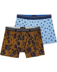 Scotch & Soda - 2-pack All-over Printed Boxer Shorts - Lyst