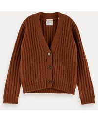 Scotch & Soda Gebreid Vest Van Een Wol-alpacamix - Bruin