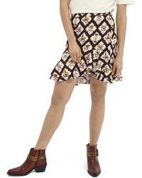 Scotch & Soda Printed Ruffled Skirt - Multicolour