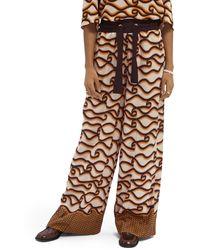 Scotch & Soda High-rise wide-legged Trousers - Multicolour
