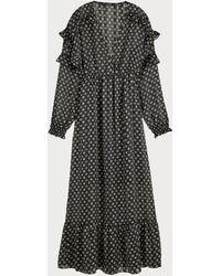 Scotch & Soda Maxi-jurk Met Print - Zwart
