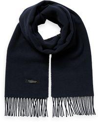 Scotch & Soda Unisex Wool-blend Fringe Scarf - Blue