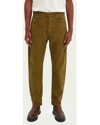 Scotch & Soda Dean Loose Tapered Jeans — Clean Green - Groen