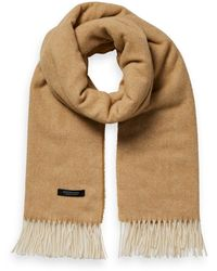 Scotch & Soda Unisex Wool-blend Fringe Scarf - Natural