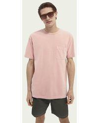 Scotch & Soda Relaxed Fit T-shirt - Roze