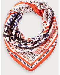 Scotch & Soda Zijdezachte Sjaal Met Print - Rood