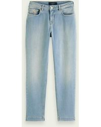 Scotch & Soda The Keeper Mid Rise Cropped Jeans Met Smalle Pijpen – Fresh Light - Blauw