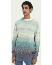 Scotch & Soda Sweater Met Kleurovergang Van Een Katoenmix - Blauw