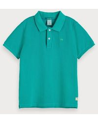 Scotch & Soda Garment-dyed Polo - Groen