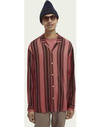 Scotch & Soda Overhemd Met Hawaïaanse Print - Roze