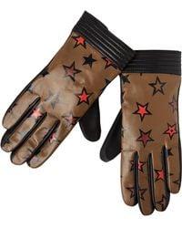 Scotch & Soda - Printed Leather Gloves - Lyst