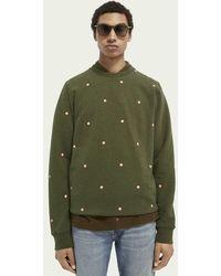 Scotch & Soda Sweater Met Ronde Hals En Print - Groen