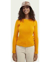 Scotch & Soda Ribgebreide Sweater - Oranje