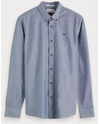 Scotch & Soda Chambray Overhemd - Blauw