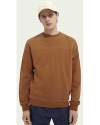 Scotch & Soda Retro Teak Sweater - Bruin