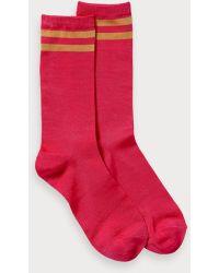 Scotch & Soda Sporty Striped Socks - Pink