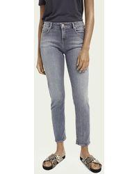 Scotch & Soda The Keeper Mid Rise Slim Fit Jeans Van Een Gerecyclede Katoenmix – Pop Of Smoke - Blauw