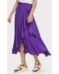 Scotch & Soda Midi Wrap Skirt - Purple