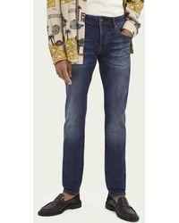 Scotch & Soda - Ralston Regular Slim Fit Jeans Van Een Katoenmix – Blizzard Blue - Lyst