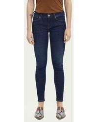 Scotch & Soda La Bohemienne Mid Rise Skinny Jeans– Blauw Chapter