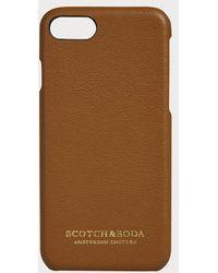 Scotch & Soda IPhone-Hülle mit Lederbezug - Braun