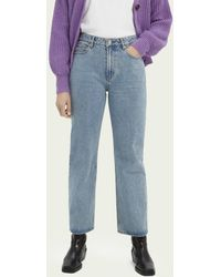 Scotch & Soda High-rise Straight-fit Jeans - Blue