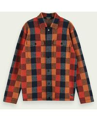 Scotch & Soda Geruit Worker-shirtjack - Rood