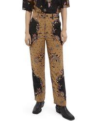 Scotch & Soda Draped Straight-fit Trousers - Multicolour