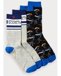 Scotch & Soda 2-pack Jacquard Sokken - Blauw