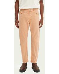 Scotch & Soda Dean Tapered Fit Jeans – Summer Garment Dye - Roze