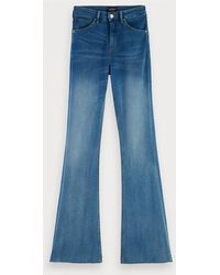 Scotch & Soda High Rise Flare – Wash It Away - Blauw