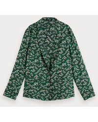 Scotch & Soda Pyjamablazer Met Print - Groen