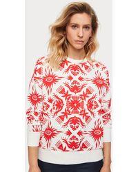 Scotch & Soda Tropical Print Sweatshirt - Red