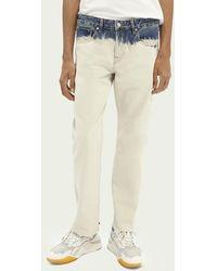 Scotch & Soda Straight Fit Jeans Van Biologisch Katoen – Tie Dye Sand - Naturel