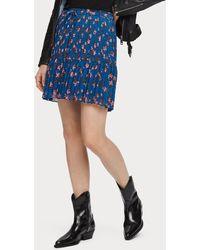 Scotch & Soda Pleated Peplum Skirt - Blue