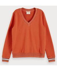 Scotch & Soda Sweater Met V-hals - Bruin