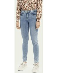 Scotch & Soda La Bohemienne Plus Mid Rise Skinny Fit Jeans - Solorize - Blauw