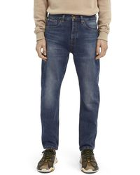 Scotch & Soda Dean Loose Tapered-fit Organic Cotton Jeans - Washout - Blue