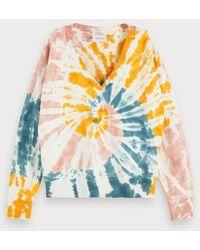 Scotch & Soda Tie-dye Sweater - Meerkleurig