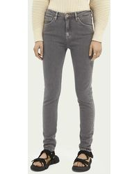Scotch & Soda Haut High-rise Skinny Jeans – Back To My Roots - Grijs