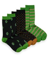 Scotch & Soda 3-pack Printed Cotton-blend Socks - Green