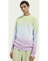 Scotch & Soda Batik-Sweatshirt aus Baumwoll-Rippstrick - Blau