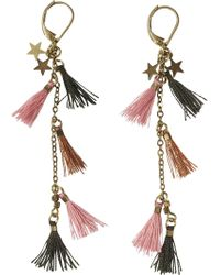 Scotch & Soda - Multi-coloured Tassel Earrings - Lyst