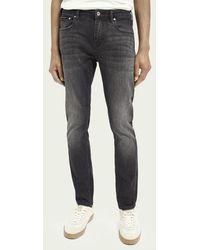 Scotch & Soda Skim Super Slim Fit Jeans Van Biologisch Katoen - Soldier On - Zwart