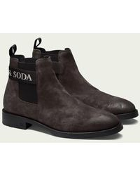 Scotch & Soda Picaro - Suède Chelsea Boots - Zwart