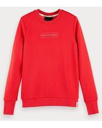 Scotch & Soda Sweater Met Logodetail - Rood