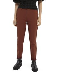 Scotch & Soda Lowry Slim-fit Mid-rise Trousers - Brown