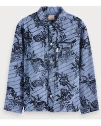 Scotch & Soda - Overshirt Met Toile De Jouy - Lyst