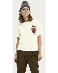 Scotch & Soda Boxy Fit Artwork T-shirt - Wit